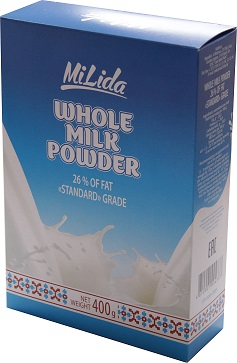Whole milk powder 26 % of fat 400 g